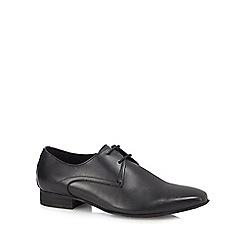 H By Hudson - Black leather 'Leton' Derby shoes