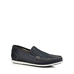 Hush Puppies - Navy leather 'Briggs' loafers