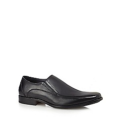 Hush Puppies - Black leather 'Kaya' slip-on shoes