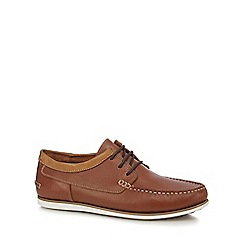 Hush Puppies - Tan leather 'Davo Portland' lace up shoes