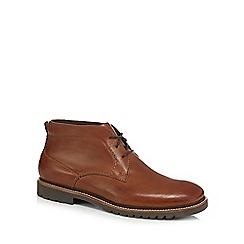 Rockport - Brown leather 'Marshall' Chukka boots