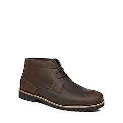 Rockport - Brown leather 'Marshall' chukka boots