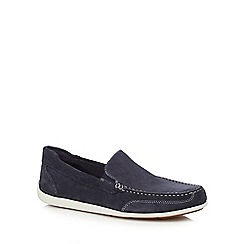 Rockport - Navy suede slip-on shoes