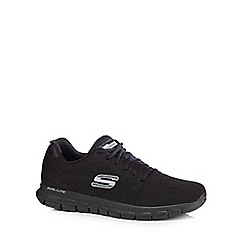 Skechers - Black 'Synergy Fine Tune' lace up trainers