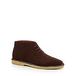 Kickers - Brown suede Chukka boots