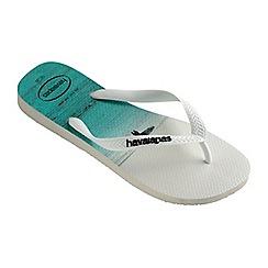 Havaianas - White hype flip flops