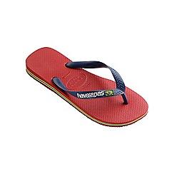 Havaianas - Red Brasil logo flip flops