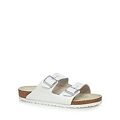 Birkenstock - White 'Arizona' double strap sandals