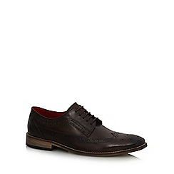 Base London - Dark brown leather 'Durham' lace up brogues