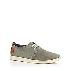 Original Penguin - Light grey suede perforated shoes