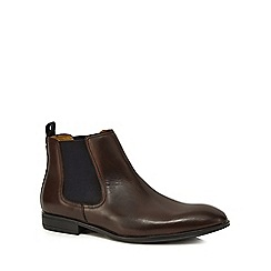 Steptronic - Dark brown leather 'Ford' Chelsea boots
