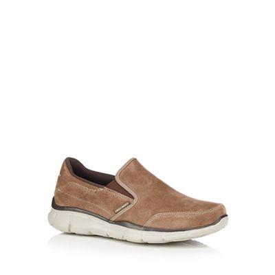 Skechers - Light brown slip on raised sole shoes