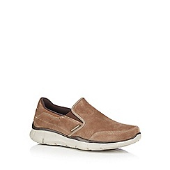 Skechers - Light brown slip on raised sole shoes
