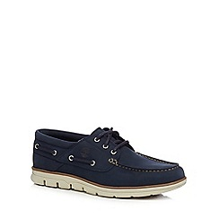 Timberland - Navy 'Bradstreet' lace up boat shoes