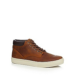 Timberland - Tan leather 'Adventure' lace up boots