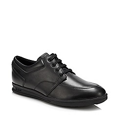 Kickers - Black leather 'Troiko' lace up shoes