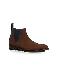 Loake - Brown suede 'Caine' Goodyear welted Chelsea boots