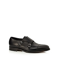 Loake - Black leather 'Cannon' double monk strap shoes