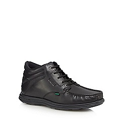 Kickers - Black leather 'Reasan' lace up boots