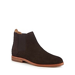 H By Hudson - Dark brown suede 'Tonti' Chelsea boots