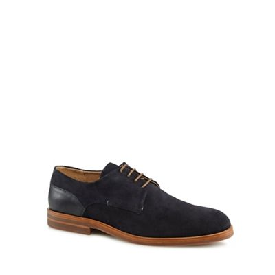 H By Hudson - Navy suede 'Enrico' Derby shoes