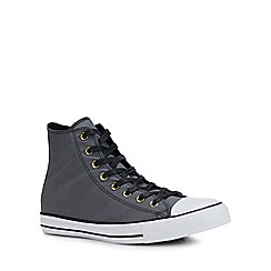 Converse - Grey Canvas 'Chuck Taylor All Star' High-Top Trainers