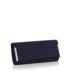 Debut - Navy bar detail clutch bag