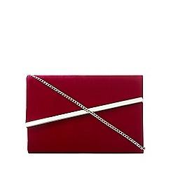 Debut - Dark pink velvet asymmetric clutch bag