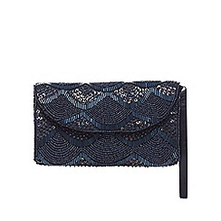 Debut - Navy beaded purse