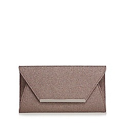 Debut - Multi-coloured glitter envelope clutch bag