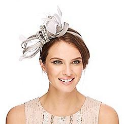 No. 1 Jenny Packham - Grey encrusted headband fascinator