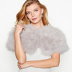 No. 1 Jenny Packham - Grey feather shrug