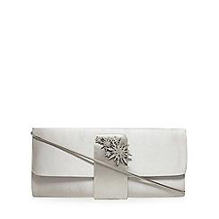 No. 1 Jenny Packham - Grey satin clutch bag