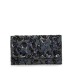 No. 1 Jenny Packham - Grey sequin embellished clutch bag