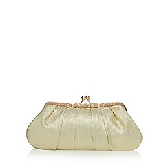 No. 1 Jenny Packham - Gold satin clutch bag