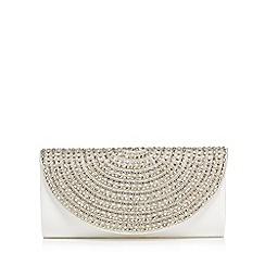 No. 1 Jenny Packham - Ivory beaded half moon clutch bag