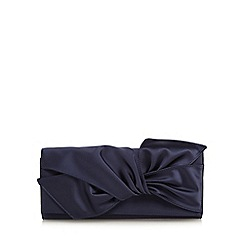 No. 1 Jenny Packham - Navy knotted clutch bag