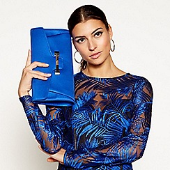 Star by Julien Macdonald - Blue bar detail clutch bag