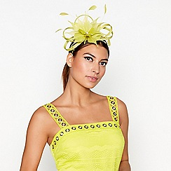 Star by Julien Macdonald - Light green flower feather fascinator