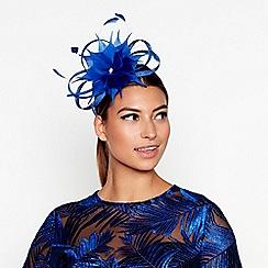 Star by Julien Macdonald - Blue flower feather fascinator