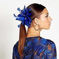 Star by Julien Macdonald - Blue tropical feather hair clip