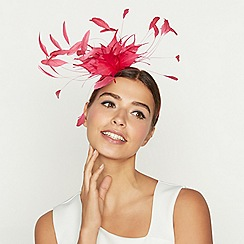 Star by Julien Macdonald - Pink feather fascinator