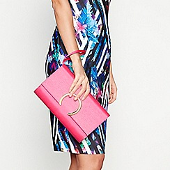 Star by Julien Macdonald - Bright pink grosgrain clutch bag