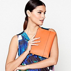 Star by Julien Macdonald - Orange faux leather clutch bag
