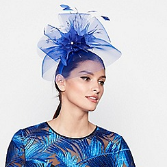 Star by Julien Macdonald - Blue feather veil headband