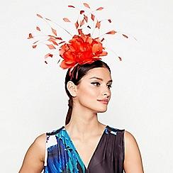 Star by Julien Macdonald - Orange feather spray diamante headband