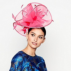 Star by Julien Macdonald - Bright pink pleated wave fascinator