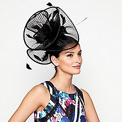 Star by Julien Macdonald - Black pleated wave fascinator
