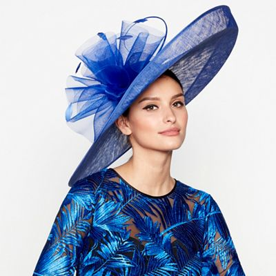 8ee2d75f4f8 Star by Julien Macdonald Blue oversized saucer fascinator
