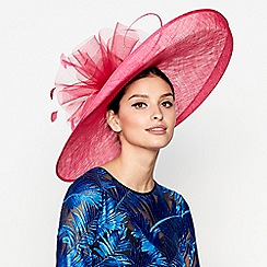 Star by Julien Macdonald - Bright pink oversized saucer fascinator